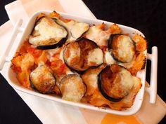 Cocinando con Lola García: Farfalle al horno con berenjena y mozzarella
