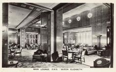 RMS Queen Elizabeth 1940 - Main Lounge