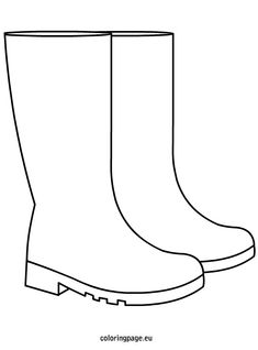 The Boot Kidz | Outline of Wellington Boot/Stencil for ...