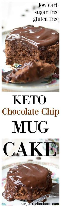 A moist and chocolatey keto mug cake made with coconut flour. Enjoy this cake straight out of the mug or transfer onto a plate and smother it with sugar free chocolate sauce! Low carb and gluten free.