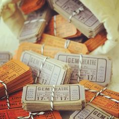 Aren't these Jenni Bowlin #tickets just adorable? #vintage #embellishments