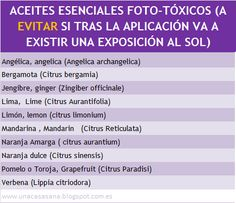 Aceites Esenciales fototoxicos - unacasasana.blogspot. com.es