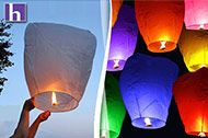 Chinese fire lanterns from The Hipster Co. - great for a Tangled themed party, but even better for any kind of night time party!!