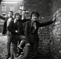 Teddy girls, 1950s | Photographed by Ken Russell