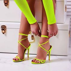 Complete any outfit in a pair of fierce AF high heels from EGO. From stilettos to perspex heels - we've got the sassiest styles. Shop now at EGO. Neon Sandals, Women's Shoes Sandals, Wedge Shoes, Summer Sandals, Neon Heels, Sandals Platform, Sandals Outfit, Sandal Heels, Shoes Sneakers