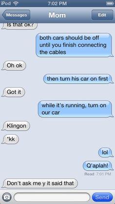 Klingon autocorrect