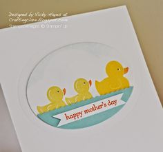 *like the finished frame around circle*  Mothers Day card using Something for Baby by Stampin' Up