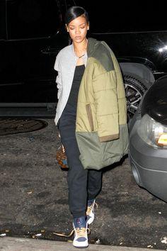Rihanna at the Recording Studio in New York