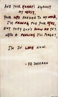 Kiss Me - Ed Sheeran