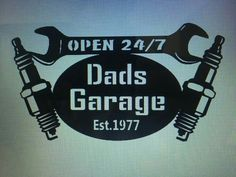 Dads Garage Sign With Date He Became A Dad/father At The on Amazing Garage Ideas 6487 Metal Projects, Welding Projects, Metal Crafts, Metal Artwork, Metal Wall Art, Man Cave Garage, Plasma Cutter Art, Diy Gifts For Dad, Dad Gifts