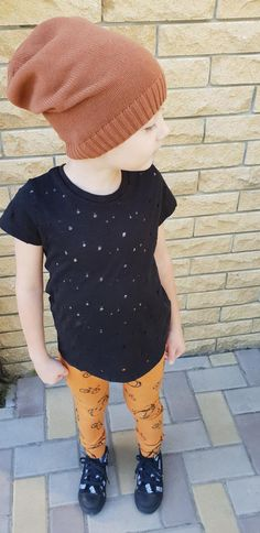 Holey baby t-shirt, holey kids tee, baby black tee, unisex kids t-shirt, hipster baby clothes, boy t-shirt, girl t-shirt, t-shirt tank,black