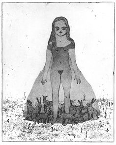 Sophie Lecuyer, etching and aquatint
