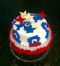 Independence Day themed Happy Birthday Cake