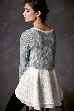 Kittery Pullover #anthropologie  DIY: Great idea for upcycling old clothes and sweaters!