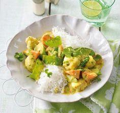 Frühlingsgemüse in Currysahne