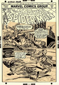 Comic Art For Sale from RomitaMan Original Art, Amazing Spider-Man 147 Cover (OVER-SIZED) 1975 SOLD SOLD SOLD! by Comic Artist(s) John Romita Sr.