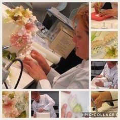 Con gli accessori giusti si possono realizzare fantastiche creazioni 😉 La meravigliosa Cake Designer Mariella Pentassuglia, usando l'aerografo e i prodotti Saracino, ha realizzato fantastici fiori decorativi !!!