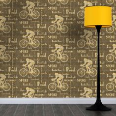 The Cyclist Wallpaper on tweed background is our way of paying homage to The Tweed Run a metropolitan bicycle ride (established in 2009). Design by ATADesigns. http://www.atadesigns.com/portfolioentry/cyclist-wallpaper-dark-brown/