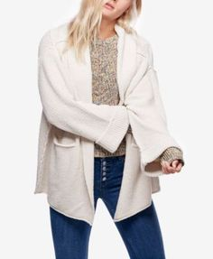 FREE PEOPLE Free People Low Tide Shawl-Collar Duster Cardigan. #freepeople #cloth # sweaters