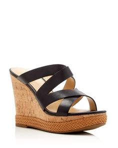 IVANKA TRUMP Harbie Cork Wedge Platform Sandals | Bloomingdale's