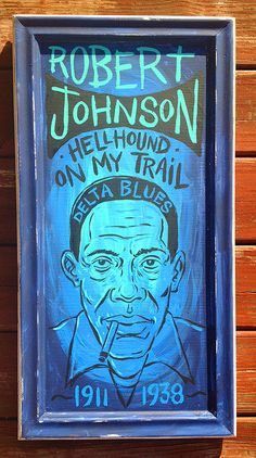 Robert Johnson folk art Blues painting by grego by MojohandBlues, $250.00