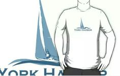 York Harbor Wear. #wellsbeach  #maine  Available in redbubble and cafepress.