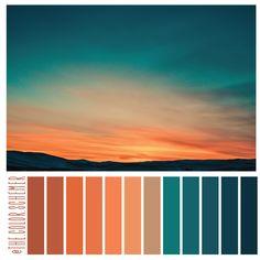 Bedroom Colour Palette, Colour Pallette, Color Palate, Orange Color Palettes, Color Schemes Colour Palettes, Color Combos, Bedroom Orange, Color Stories, Pantone Color