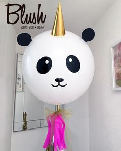 🐼+🦄= pandacornio. #increiblescomosiempre #iloveblush #globosgigantespachuca #giantballoonspachuca #pandacorn #cute #love #losmejoresclientes Panda Themed Party, Panda Birthday Party, Panda Party, Jumbo Balloons, Giant Balloons, Balloon Decorations, Birthday Party Decorations, Ballon Diy, Asian Party