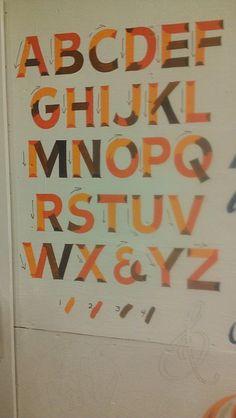 Stroke play Teaching the Art of signwriting - Nick Garrett NGS of London. http://www.nickgarrettsignwriter.com/ngs-courses/