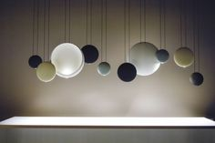 just-good-design: Cosmos by Lievore-Altherr Molina for Vibia. Interior Lighting, Modern Lighting, Lighting Design, Outdoor Lighting, Hanging Light Fixtures, Hanging Lights, Luminaire Design, Lamp Design, Pendant Lamp