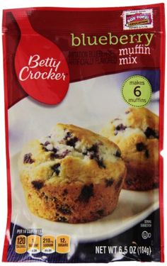 Betty Crocker Muffin Mix, Blueberry, 6.5 Ounce (Pack of 9) * Tried it! Love it! : Baking supplies