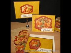 cardmaking video tutorial: Greeting cards with Napkins frenchiestamps.com