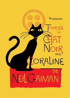 One of many remakes of the classic Chat Noir poster.