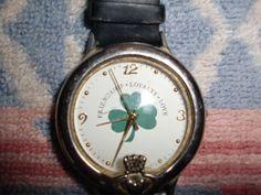 Vintage Claddagh Irish Shamrock with Blessing on Back Men's Women's Watch | eBay