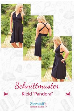 Schnittmuster und Anleitung Kleid Pandora A dress should not be missing in a woman's wardrobe. Prom Dresses, Formal Dresses, Event Dresses, Long Dresses, Simple Dresses, Casual Dresses, Classy Casual, Classy Dress, Pandora