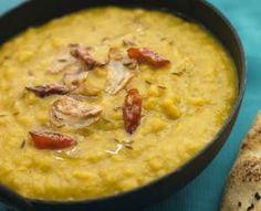 Intialainen linssi-kasviscurry