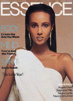 Iman Essence cover January 1988