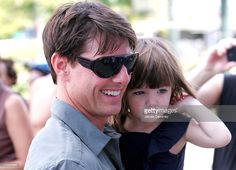 Tom Cruise and Suri Cruise seen on the streets of Manhattan on August 16, 2008 in New York City.