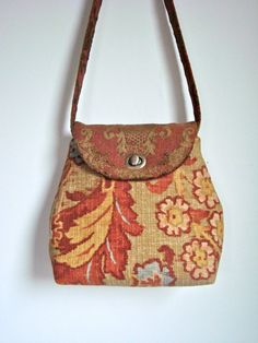 New HANDMADE Large *Halloween* PUMPKINS In The PATCH Bag//Tote//Purse//Handbag