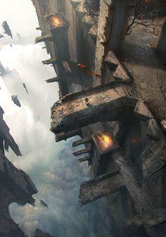 ArtStation - sky castle, eugene shushliamin