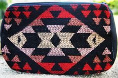 "Perfect size for a purse or use for a fun bag. Measures 7""x 4.5"" Comes in varies Aztec Patterns and Colors"