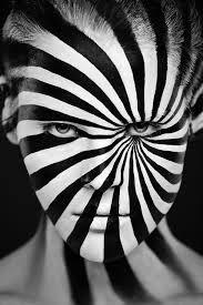 fashion monochrome face paint - Google Search