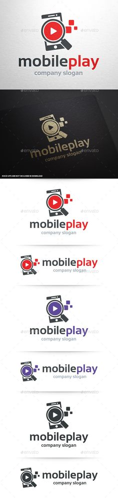 Mobile Play Logo Template — Vector EPS #store #app • Available here → https://graphicriver.net/item/mobile-play-logo-template/10468775?ref=pxcr