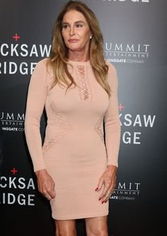 """Caitlyn Jenner in a pink bodycon dress at the screening of """"Hacksaw Ridge"""" in Beverly Hills on October 24, 2016."""