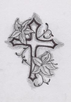 cross flower.tattoo | Cross Tattoo Design by SpirantHarpy