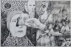 Exquisite Corpse with the master of details Dan Neamu The Masquerade Exquisite Corpse, Dream Art, Masquerade, Surrealism, Princess Zelda, Deviantart, Dan, Painting, Fictional Characters