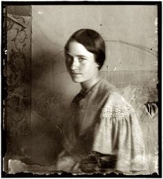 Gertrude Käsebier, daughter of the photographer, at Crecy en Brie, France, in 1894, by Gertrude Käsebier