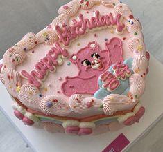 Pretty Birthday Cakes, Pretty Cakes, Bakery Style Cake, Korean Cake, Pinterest Cake, Cute Desserts, Just Cakes, Breakfast Dessert, Vegan Cake