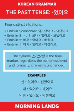 Tenses and conjugation are a big part of any language. If you know the Korean present tense, this Korean past tense will be a breeze. #LearnKorean #Korean #한국어