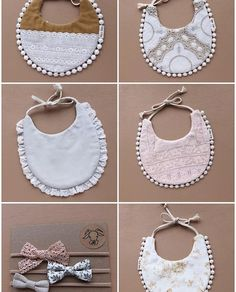 Unique Handmade Baby Bibs, Bows, Paci Clips and Handgemachtes Baby, Girl Baby Bibs, Baby Gifts For Girls, Bibs For Babies, Baby Toys, Crochet Bib, Crochet Collar, Baby Bibs Patterns, Diy Bebe